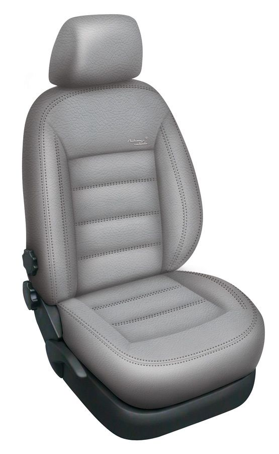 Autopotahy kožené Mazda 5 I, 7 míst, od r. 2005-2010, AUTHENTIC LEATHER, šedé SIXTOL