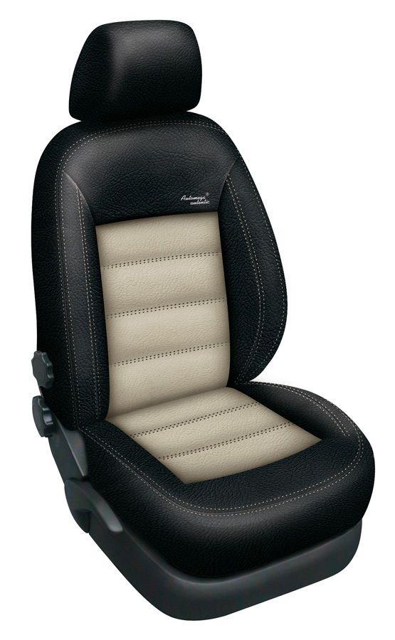 Autopotahy kožené Mazda 5 I, 7 míst, od r. 2005-2010, AUTHENTIC LEATHER, černobéžové SIXTOL