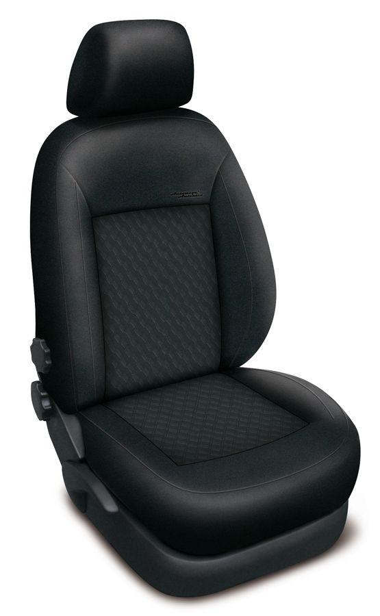 Autopotahy Honda Civic IX, sedan, od r. 2012, AUTHENTIC PREMIUM, vlnky černé SIXTOL