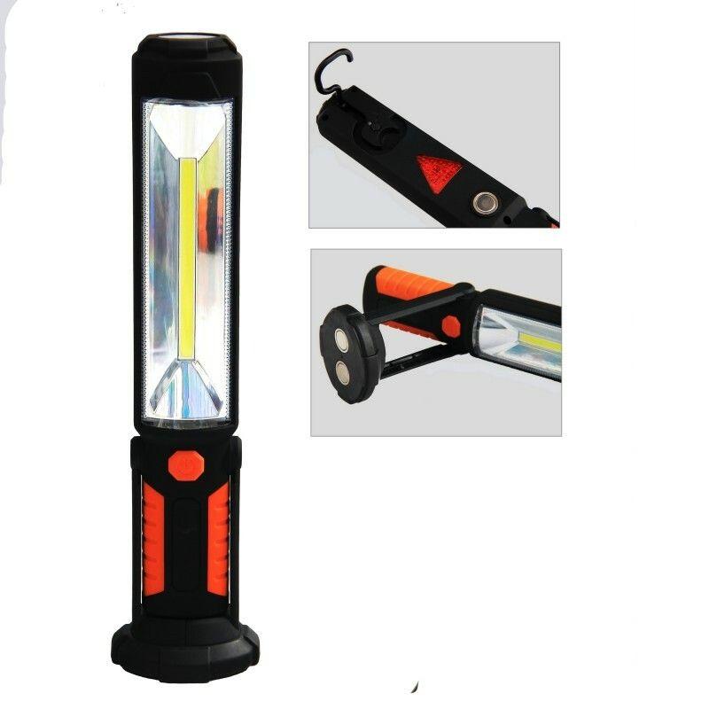 LED dobíjecí svítilna 5W COB + 5 led
