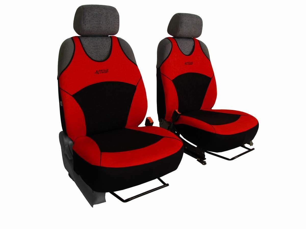Autopotahy Active Sport Alcantara, sada pro dvě sedadla, červené SIXTOL
