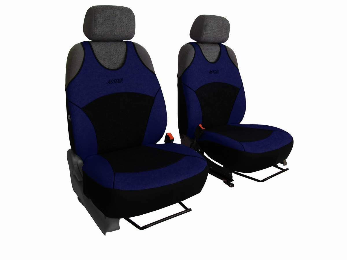 Autopotahy Active Sport Alcantara, sada pro dvě sedadla, modré SIXTOL