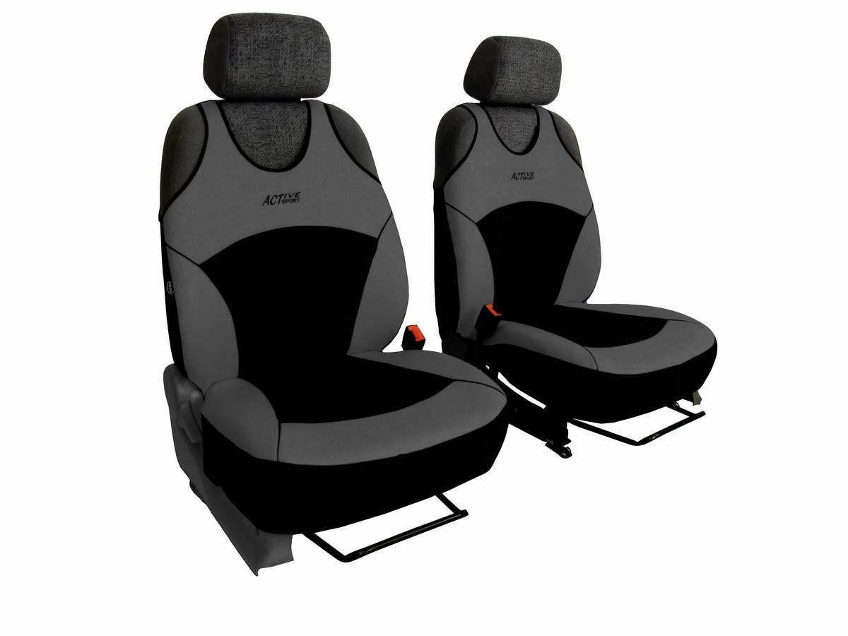 Autopotahy Active Sport Alcantara, sada pro dvě sedadla, šedé SIXTOL