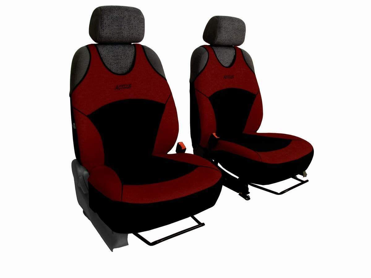 Autopotahy Active Sport Alcantara, sada pro dvě sedadla, vínové SIXTOL