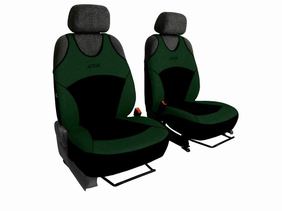 Autopotahy Active Sport Alcantara, sada pro dvě sedadla, zelené SIXTOL