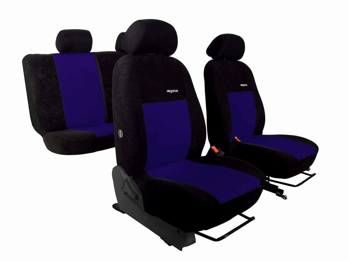 Autopotahy ELEGANCE ALCANTARA černo modré