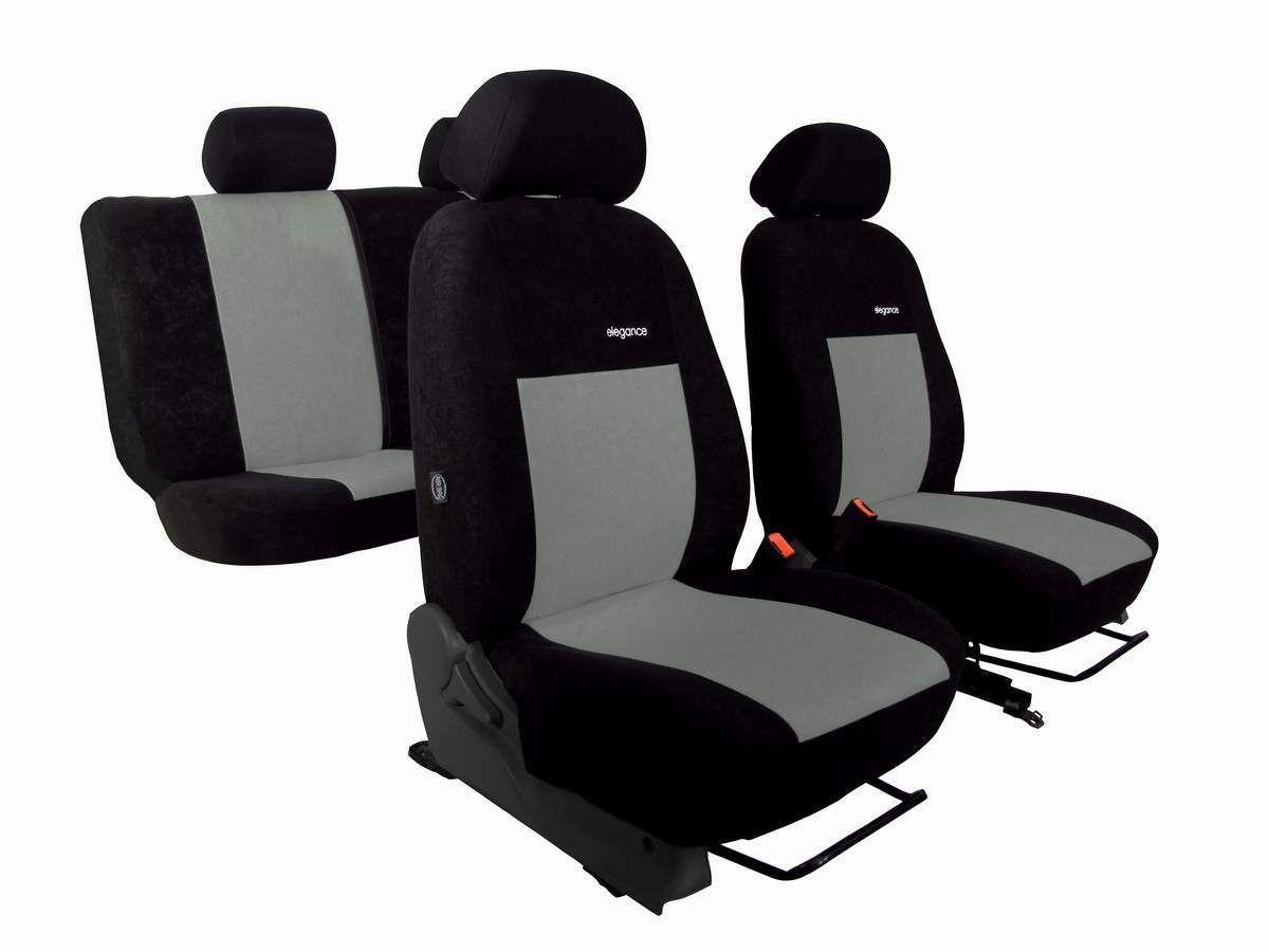 Autopotahy Volkswagen Amarok, ELEGANCE ALCANTARA černošedé SIXTOL