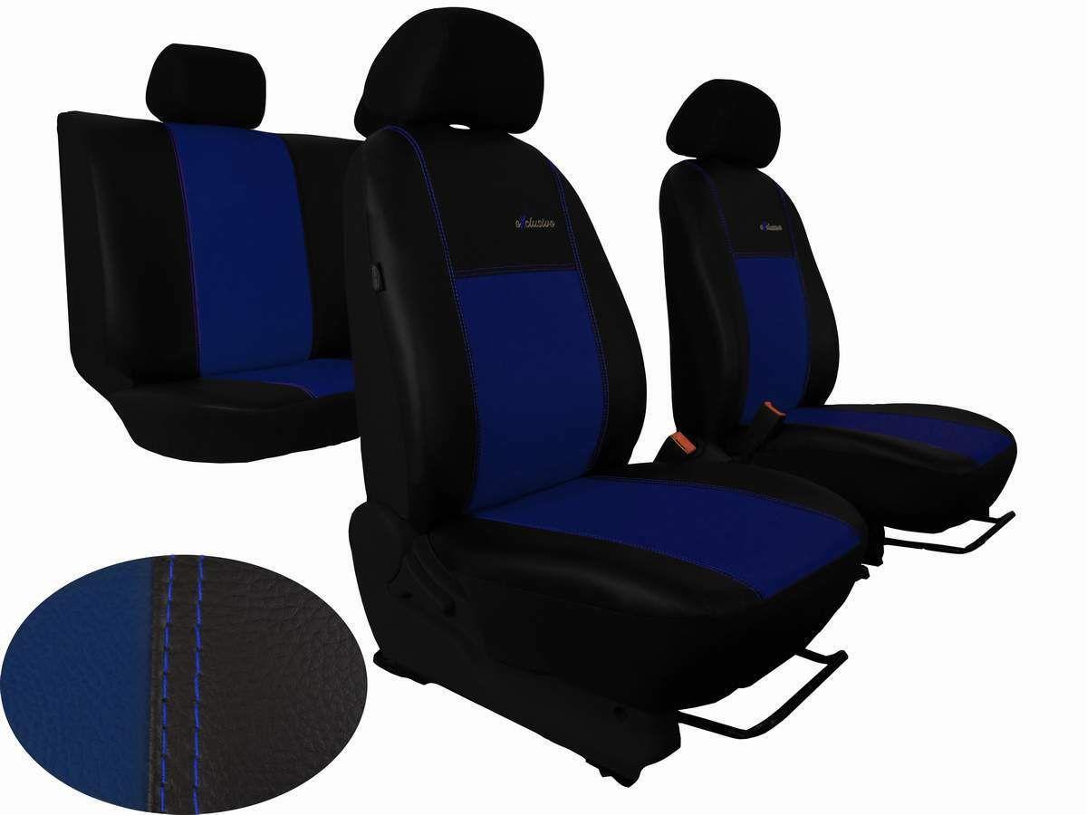 Autopotahy Volkswagen VW Crafter, 3 místa, kožené EXCLUSIVE, modré SIXTOL