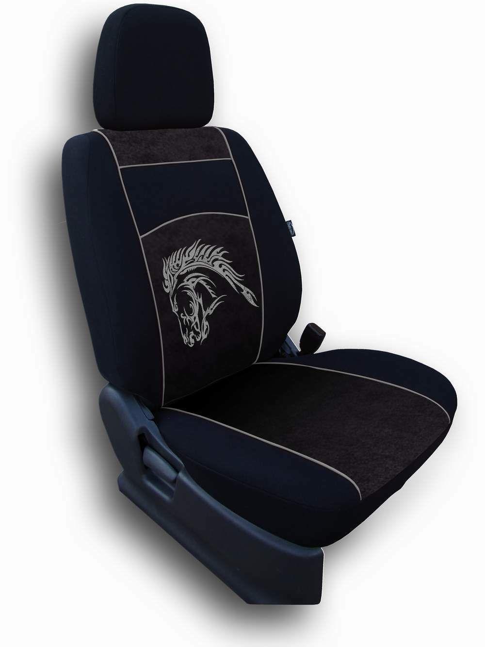Autopotahy Mustang Alcantara černý