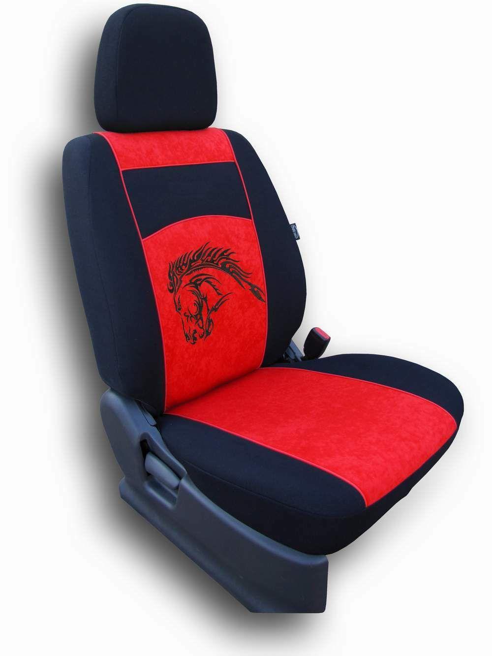 Autopotahy Mustang Alcantara červený SIXTOL