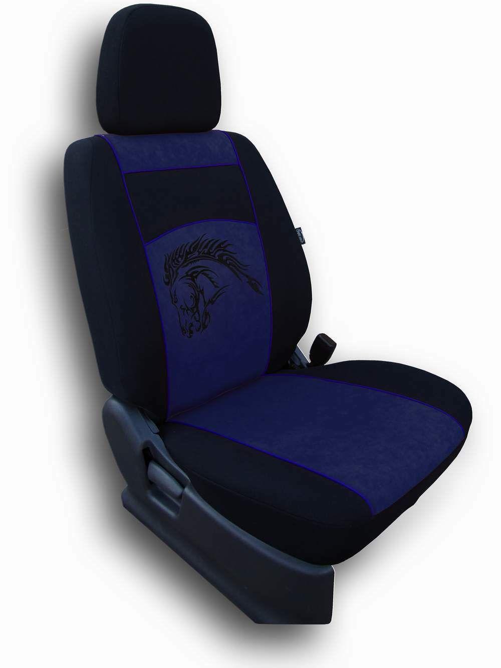 Autopotahy Mustang Alcantara modrý