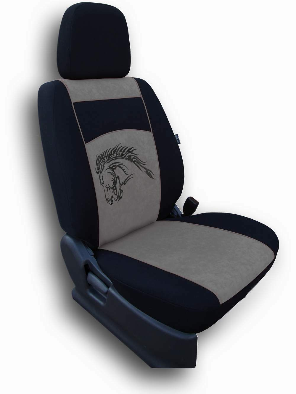 Autopotahy Mustang Alcantara šedý