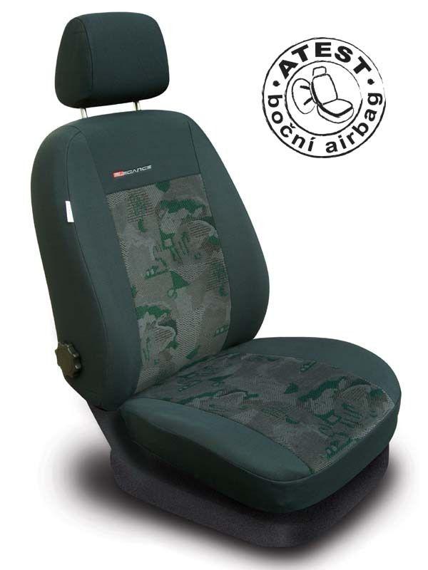 Autopotahy Škoda Roomster, 5 míst, zelené SIXTOL