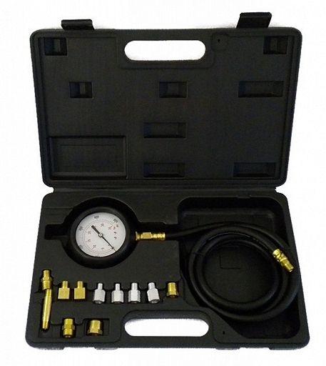 Diagnostická sada 12ks pro měření tlaku oleje, kufr, BASS