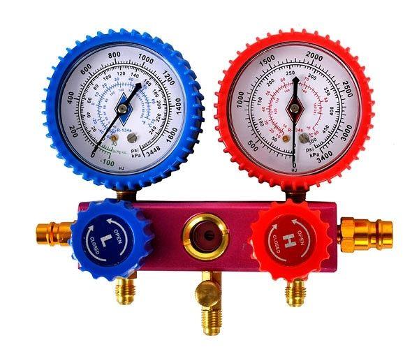 Sada manometrů na měření klimatizace, BASS