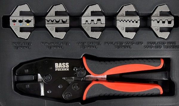 Kleště na konektory s maticemi 220mm, sada 6ks, kufr, BASS
