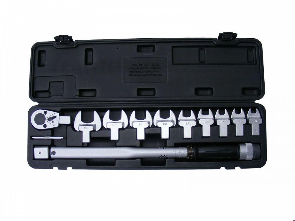 """Momentový klíč 1/2""""40-210 Nm, výměnná hlava, 9ks plochých klíčů, kufr, BASS"""