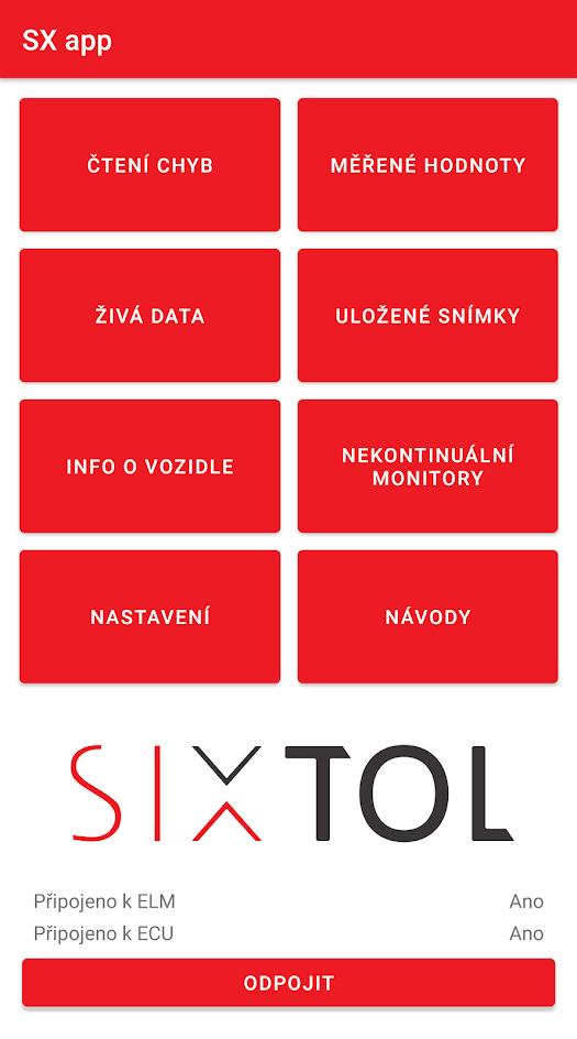 Diagnostická aplikace SX OBD SIXTOL