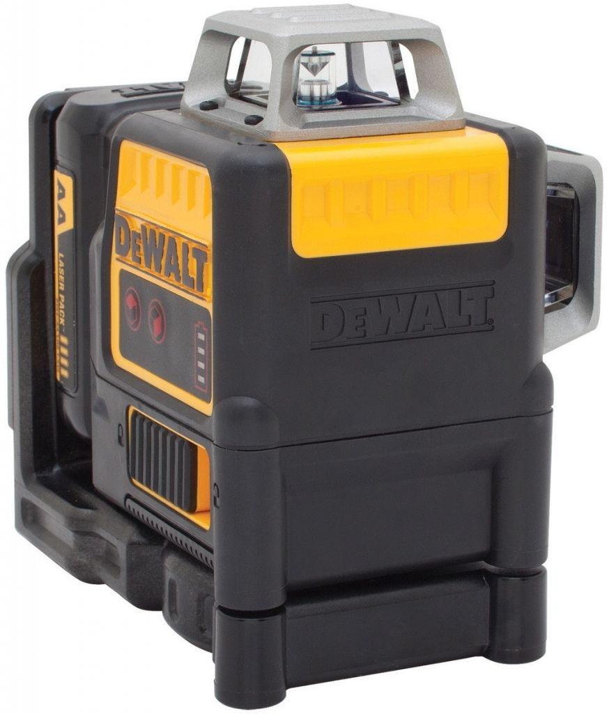 Aku křížový laser 2x360° s adaptérem na připojení 4 x AA DeWALT