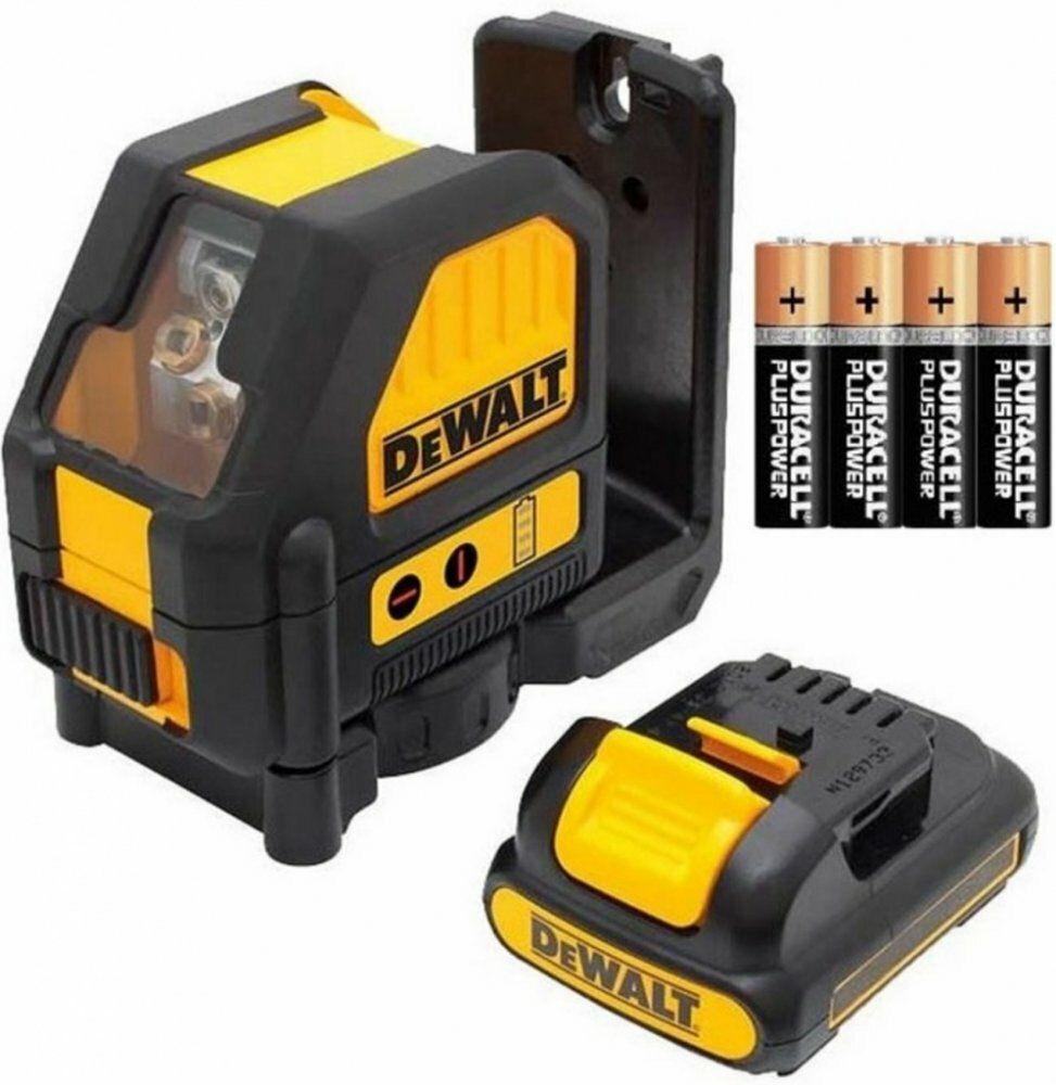 Křížový laser s adaptérem na připojení 4 x AA DeWALT