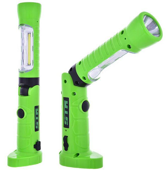Pracovní / montážní lampa COB s výklopným tělesem, přídavnou svítilnou a magnetem DT600 Genborx