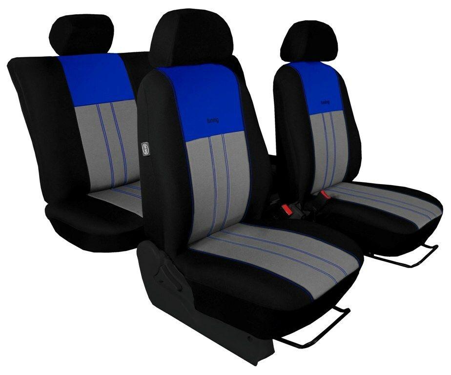 Autopotahy Škoda Octavia II, Tuning Duo, vzadu dělené, zadní loketní opěrka, modrošedé