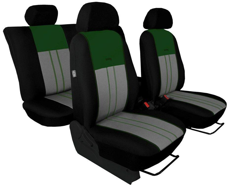 Autopotahy Škoda Octavia II, Tuning Duo, vzadu dělené, bez zadní lok.opěrky, zelenošedé