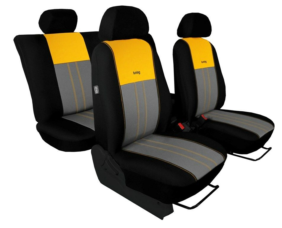 Autopotahy DUO TUNING žlutošedé SIXTOL