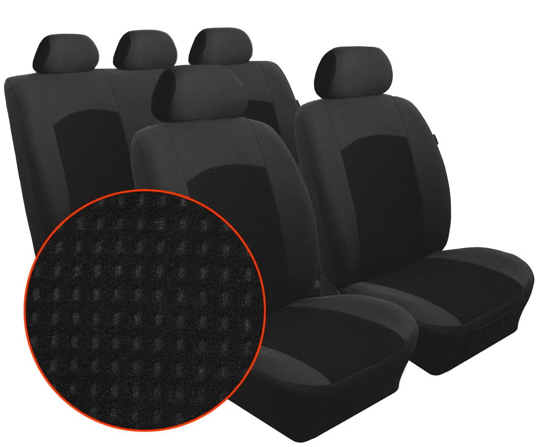 Autopotahy RENAULT MASTER IV, 3 místa, dělené dvojopěradlo, od r.2010, Dynamic velur černý