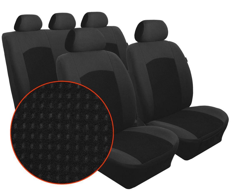 Autopotahy KIA SPORTAGE III, od r. 2010, Dynamic velur černo šedé SIXTOL