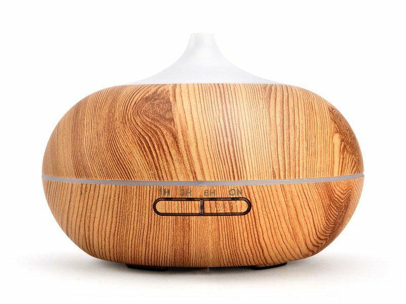 Aroma difuzér Sumó, osvěžovač a zvlhčovač vzduchu, imitace světlého dřev, 300ml NATURE7