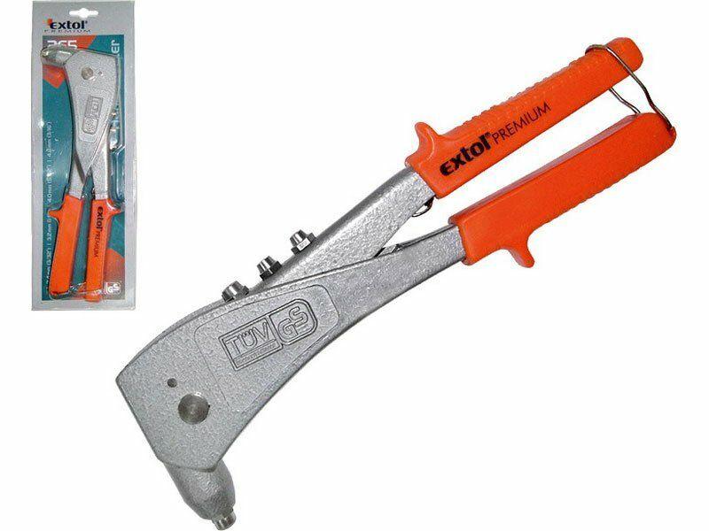 Kleště nýtovací 265mm, trhací nýty 2,4-3,2-4,0-4,8mm / hliník a ocel, 6500N, EXTOL PREMIUM