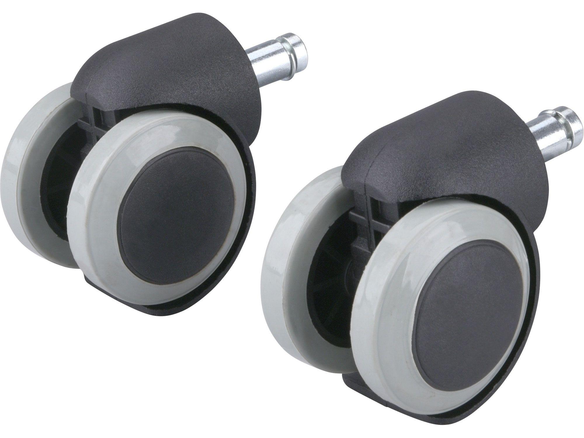 Kolečka otočná s PU obručí, sada 2ks, průměr 50mm s čepem EXTOL-PREMIUM