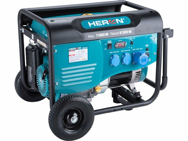 Elektrocentrála benzínová 7,0kW/15HP, pro svařování, podvozek HERON