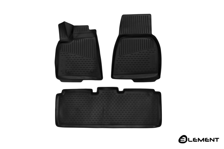 3D Gumové koberce TESLA Model S, 2012->, Evropa, 3ks SIXTOL
