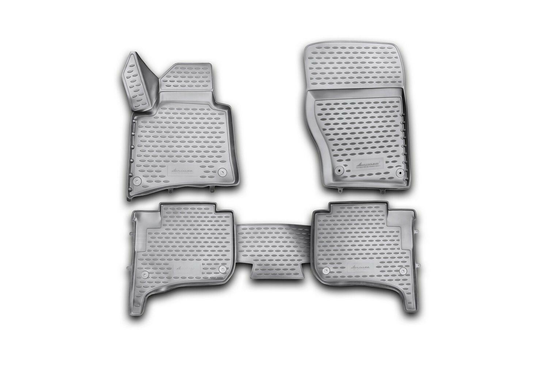 3D Gumové koberce VOLKSWAGEN Touareg II, 2010-2015, 2015-03/2018, dvouzónová klimatizace SIXTOL