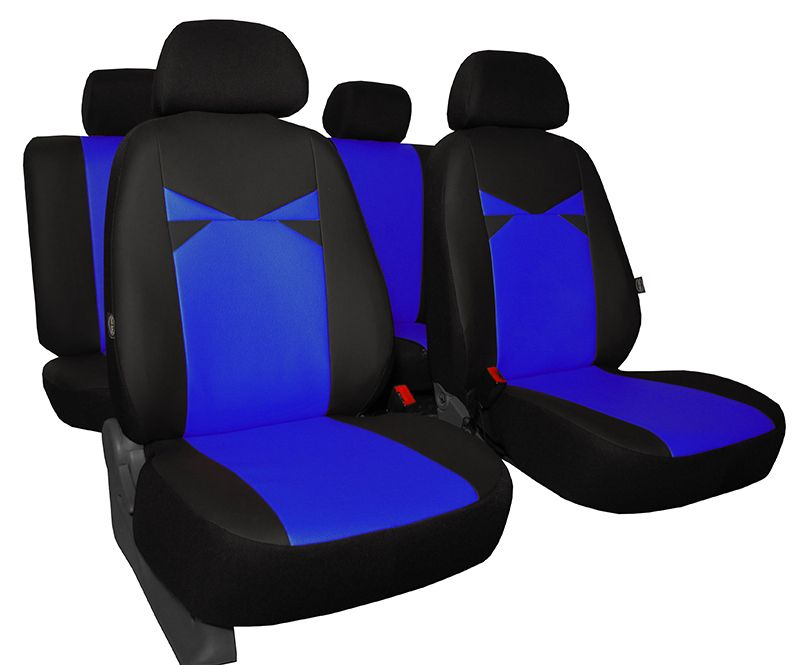 Autopotahy kožené EYES, modré