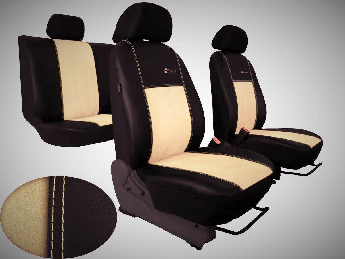 Autopotahy Volkswagen Amarok, kožené s alcantarou EXCLUSIVE béžové SIXTOL