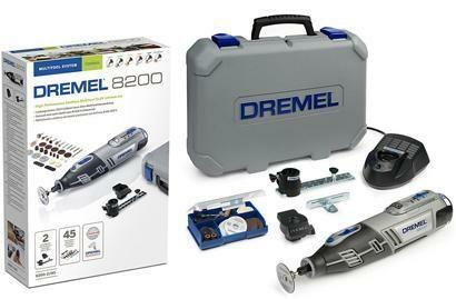 Aku univerzální nářadí DREMEL 8200 Series, 45 ks příslušenství, kufr, F0138200JF