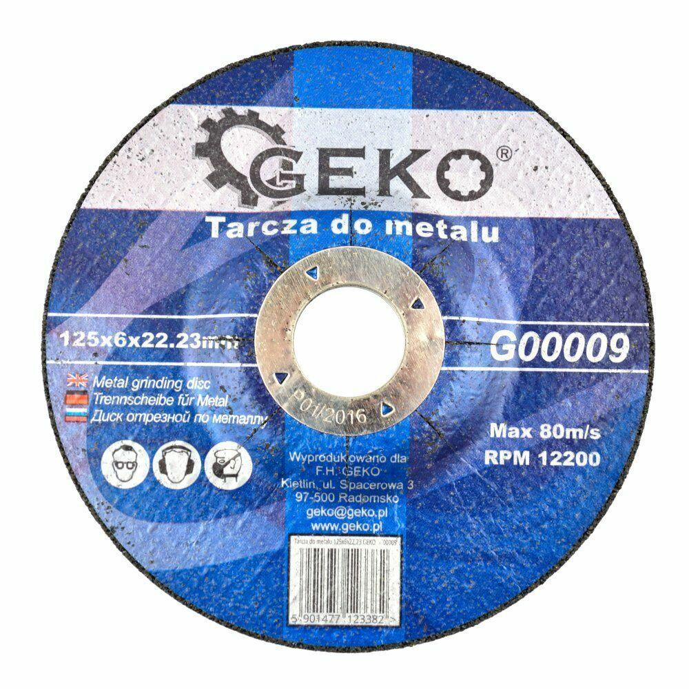 GEKO G00009 Řezný kotouč na ocel, 125x6x22,23mm