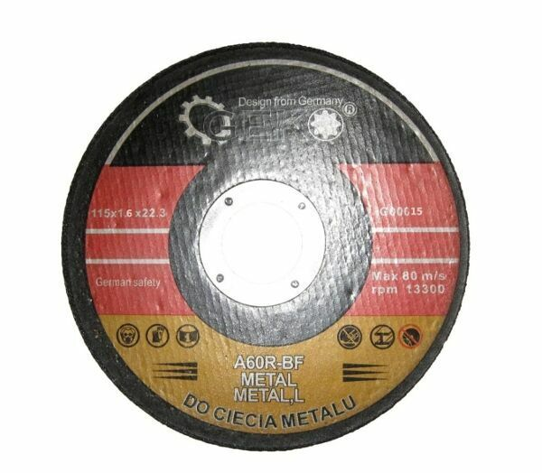 GEKO G00015 Řezný kotouč na ocel, 115x1,6x22,2mm