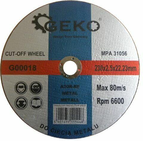 GEKO G00018 Řezný kotouč na ocel, 230x2,5x22,2mm