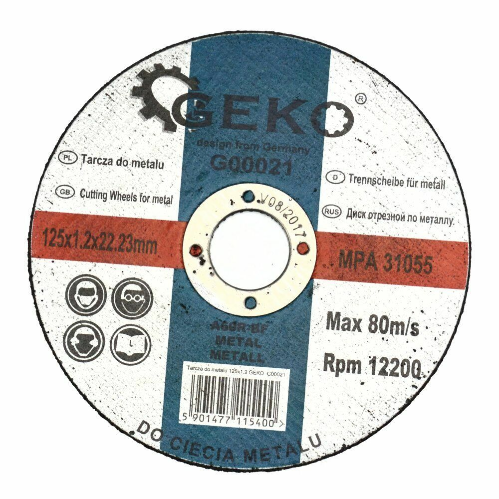 GEKO G00021 Řezný kotouč na ocel, 125x1,2mm