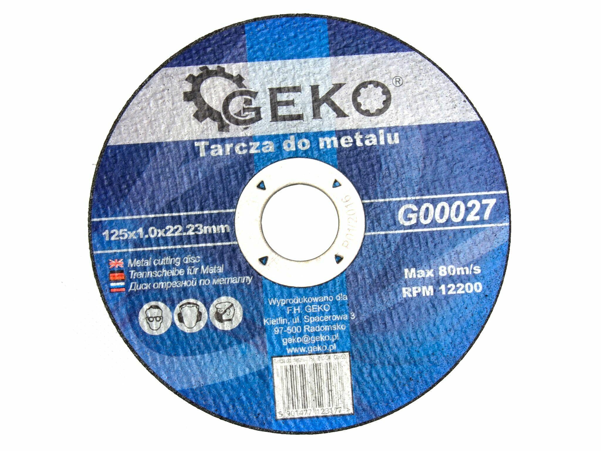 GEKO G00027 Řezný kotouč na ocel, 125x1,0mm