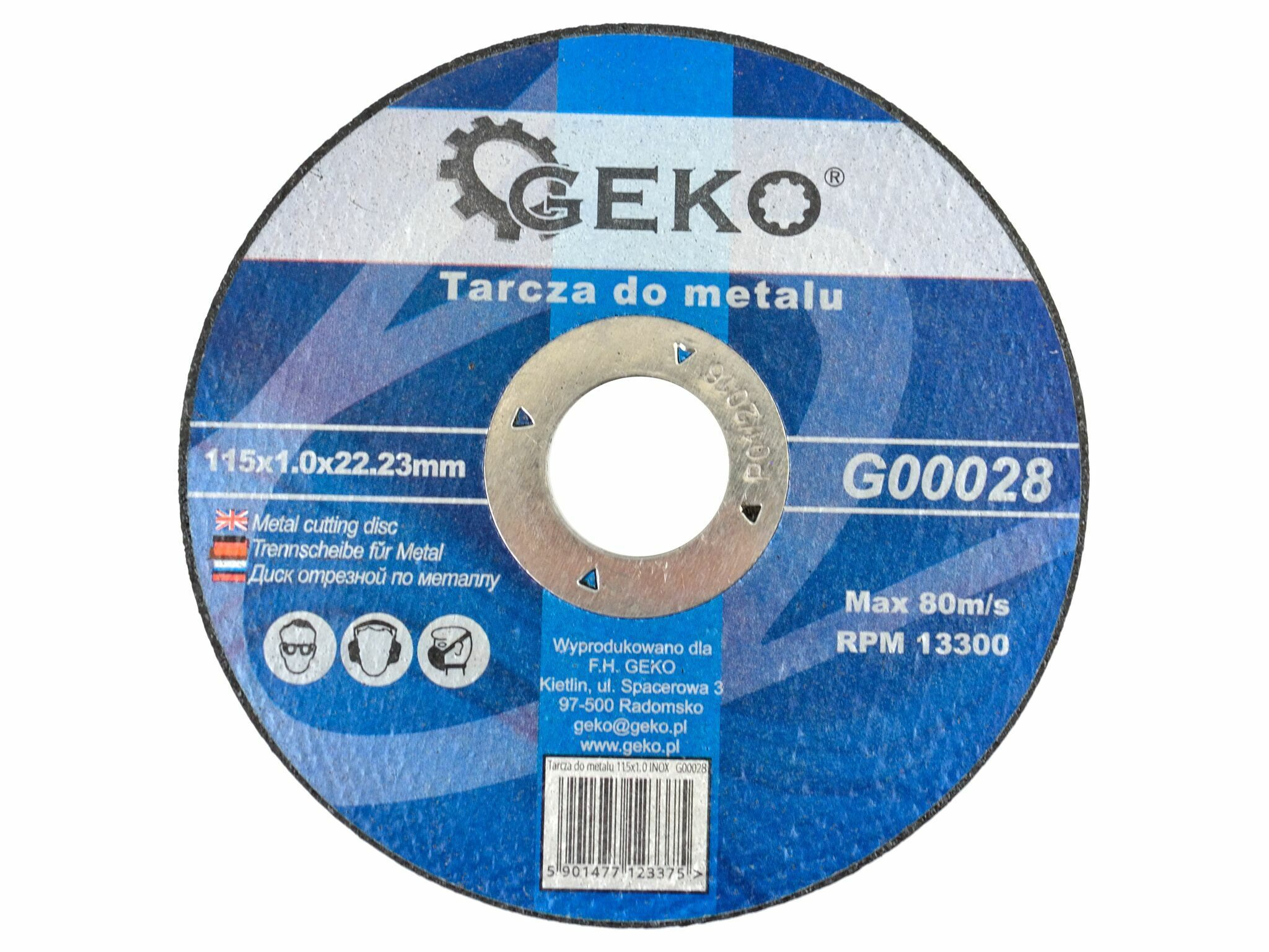 GEKO G00028 Řezný kotouč na ocel, 115x1,0mm
