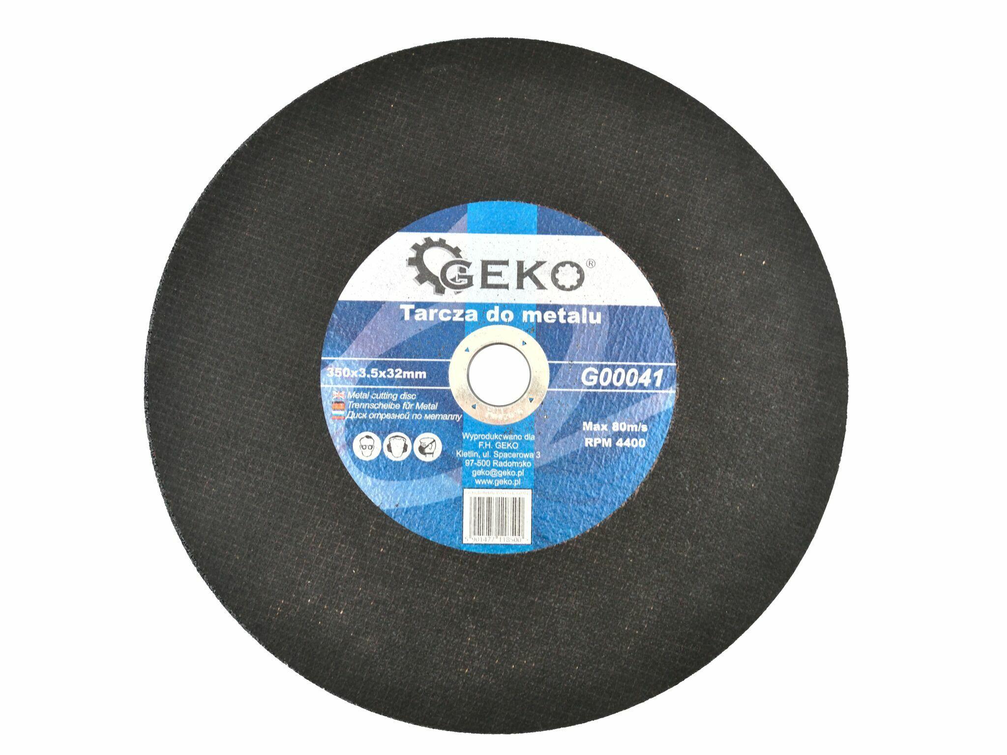 GEKO G00041 Řezný kotouč na ocel, 350x3,5x32mm