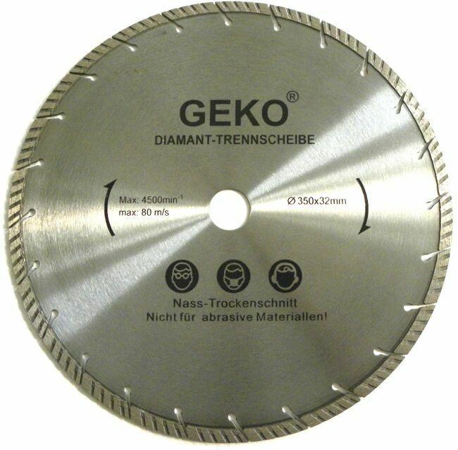 Diamantový řezný kotouč, 350x32mm GEKO