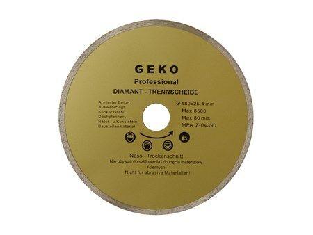 Kotouč diamantový řezný, 180x25,4mm, GEKO G00242