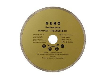 Kotouč diamantový řezný, 180x22mm, GEKO G00243