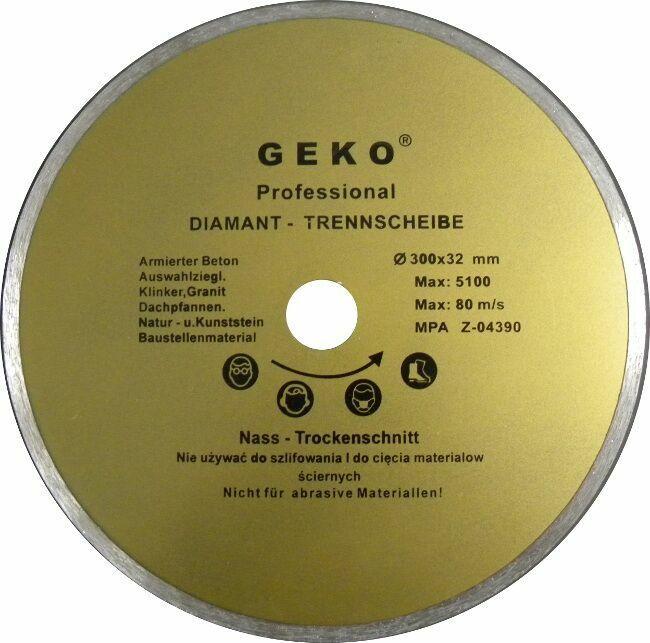 Diamantový řezný kotouč, 300x8x32mm, GEKO
